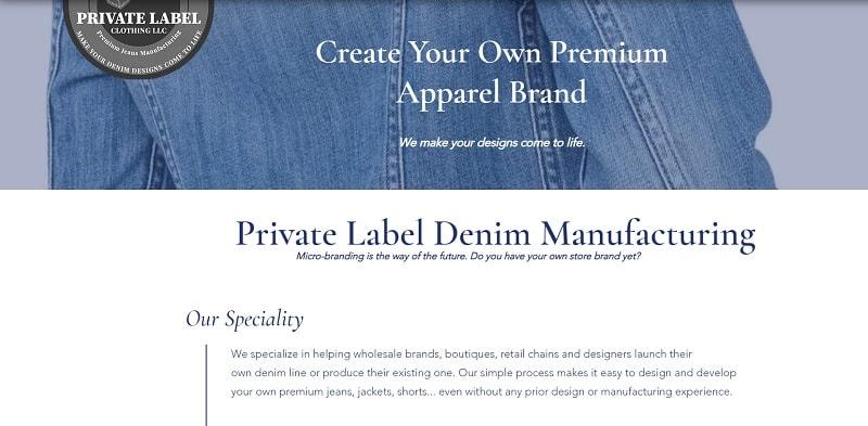 Denim Manufacturing gehört zu den Bekleidungsanbietern für Boutiquen, die hauptsächlich Denim herstellen