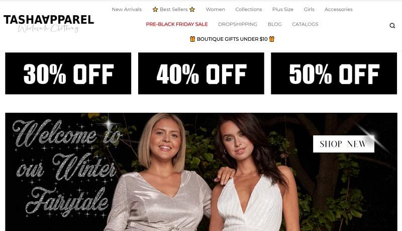 Tasha Apparel steht auf der Liste der Bekleidungslieferanten für Boutiquen, die den Schwerpunkt auf Damenbekleidung legen's clothing