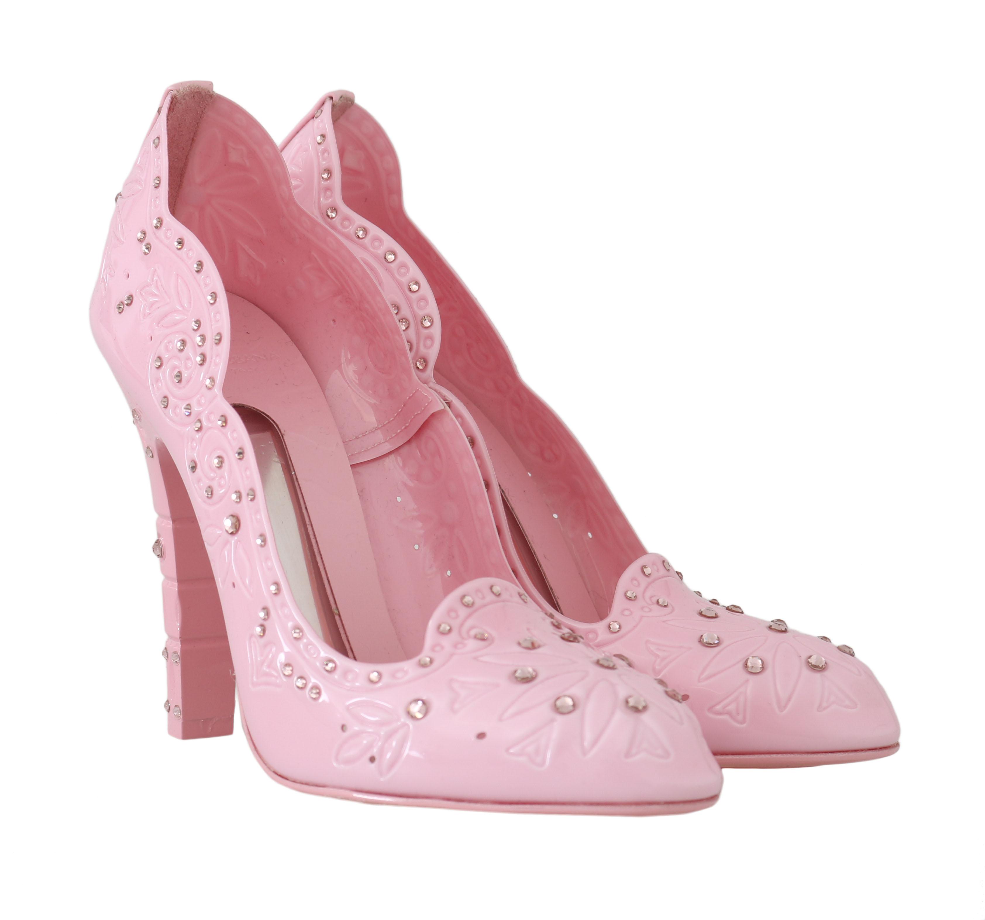 CINDERELLA Pink Crystal Heels - Dolce