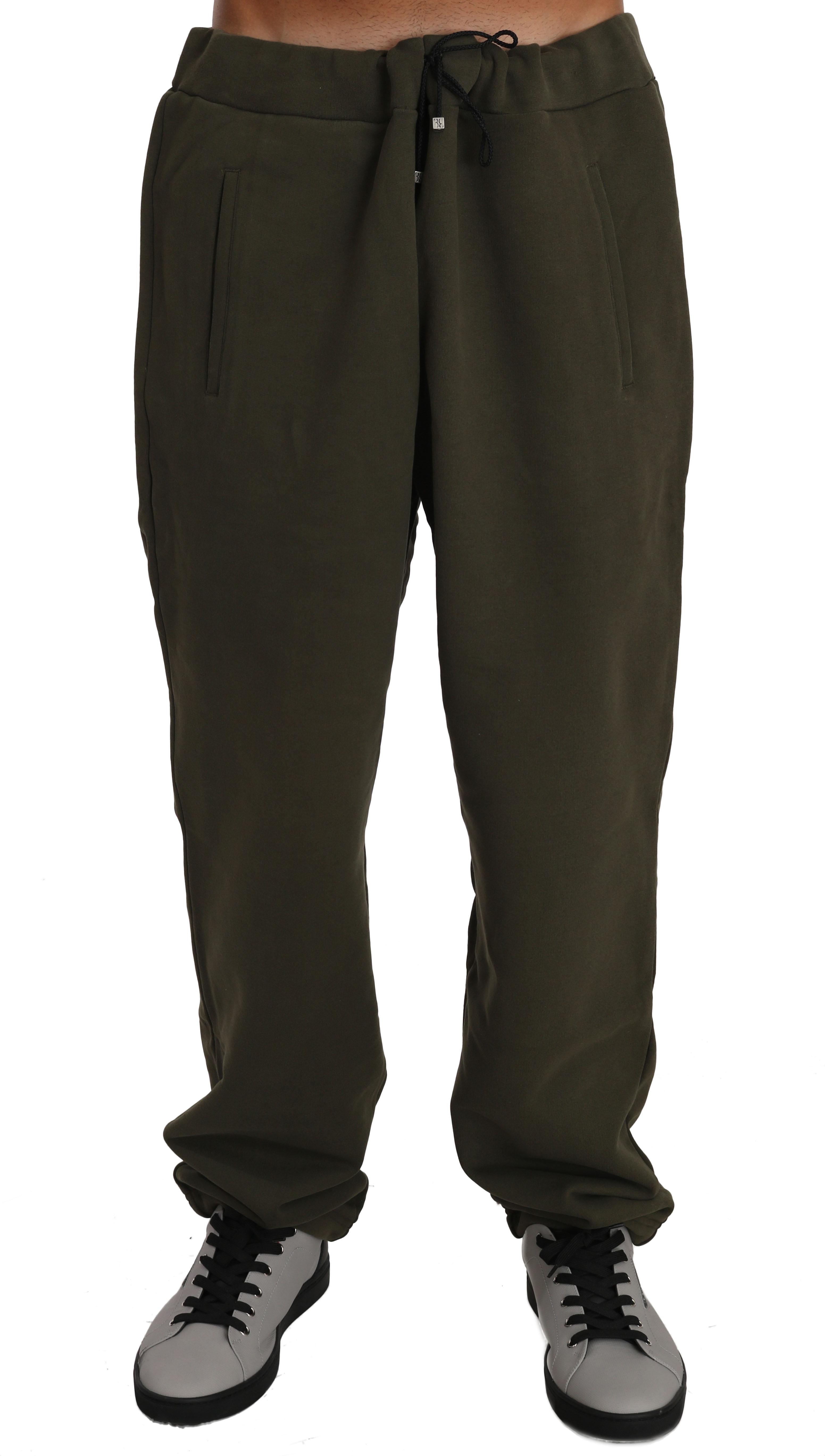 Green Fleece Mens Gym Trouser