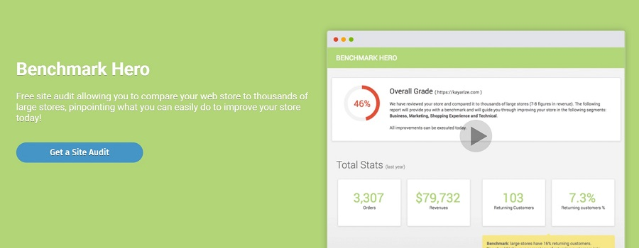 Shopify apps: Benchmark Hero