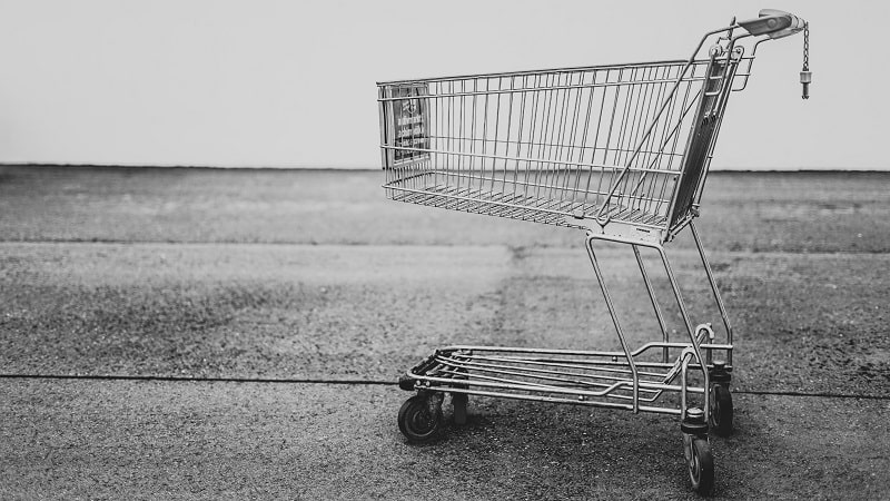 eCommerce statistics show increased abandonment of online shopping carts