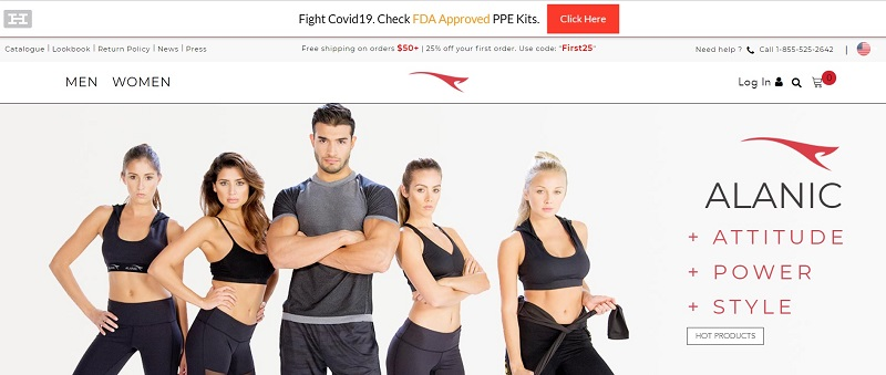 Wholesale supplier for activewear