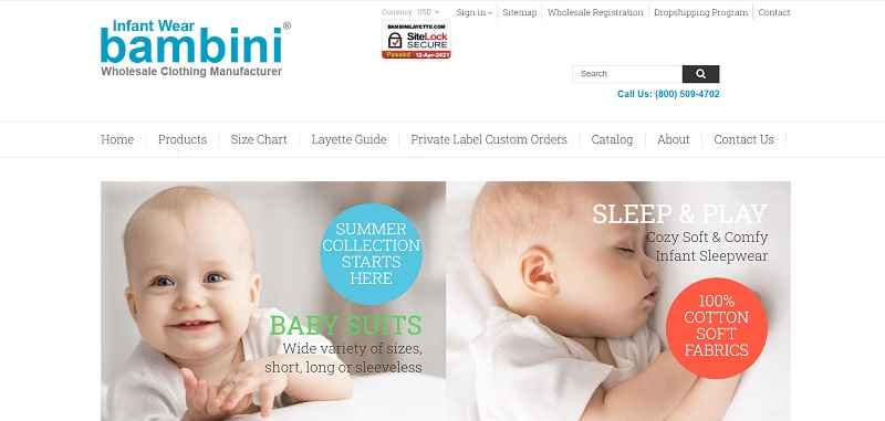 A wholesale supplier for babies' and children's clothing