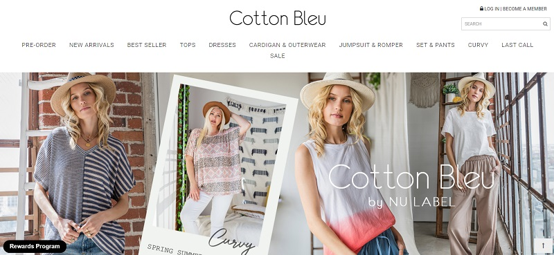 Cotton Bleu - A USA-based wholesale clothing supplier
