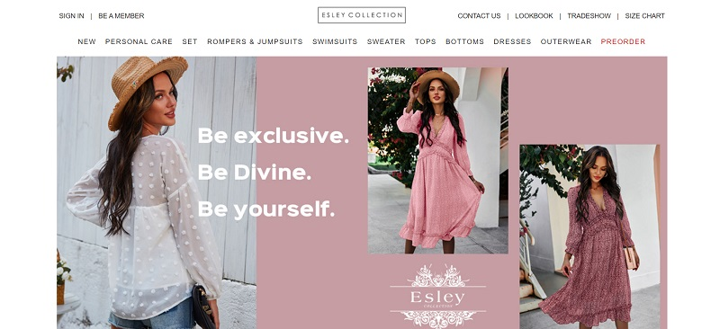 Esley Collection is a supplier of women's clothing