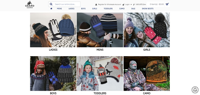Wholesale winter clothing by Sierra Grand
