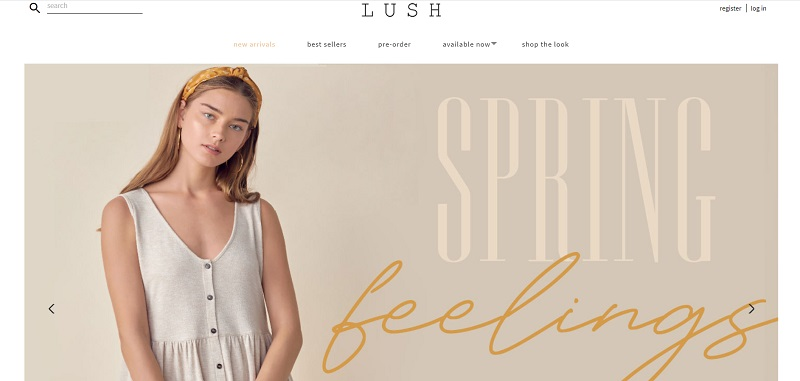 Clothing to buy in bulk available at Lush