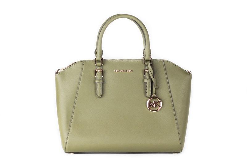 Fake vs. original designer items: Original Michael Kors handbag