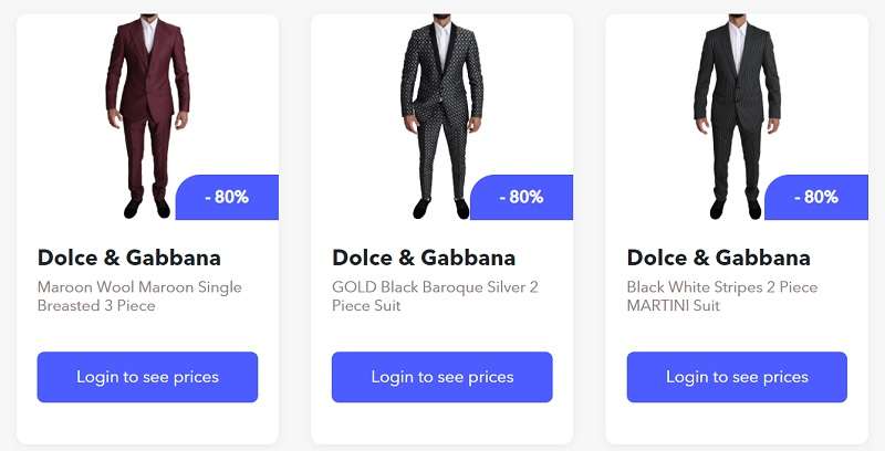 Dropshipping Dolce & Gabbana suits with BrandsGateway